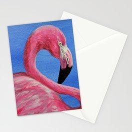 Hot Pink Flamingo Stationery Cards