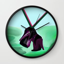Relaxing in May with May - Shoes Stories Wall Clock