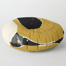 Black Hair No. 13 Floor Pillow