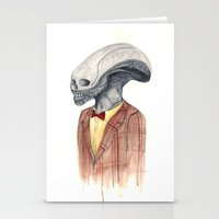 xenomorph Stationery Cards featuring Xenomorph by Monsters in Plaid