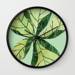 Leaf flower Wall Clock