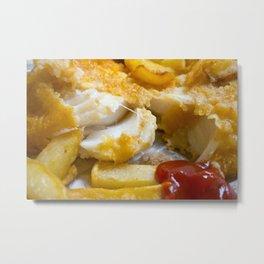 Cod Chips and Ketchup Metal Print
