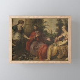 Vincent Malo - Christ with Martha and Mary Framed Mini Art Print