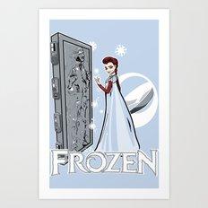 Carbon Frozen Art Print