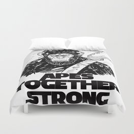 Caesar: Apes Together Strong Duvet Cover