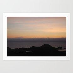 Sunset over Kråkenes Art Print
