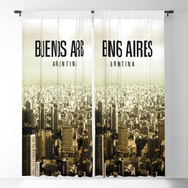 Buenos Aires Wallpaper Blackout Curtain