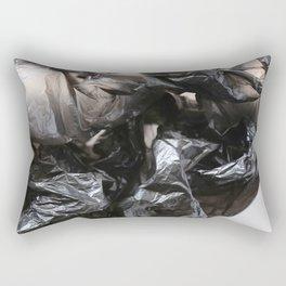 black plastic 02 Rectangular Pillow