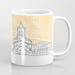 Tbilisi Georgia Skyline Map Coffee Mug