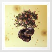 Creamy Knot Bonsai Art Print