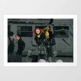 Street people collage series Art Print