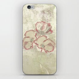 The temple bell stops but I still hear the sound coming out of the flowers. iPhone Skin