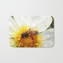 Bumble Bee on Flower Bath Mat