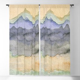 Abstract Landscape Blackout Curtain