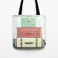 journey Tote Bags featuring Journey by simplyhue