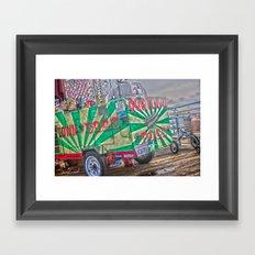 Hot Dogs on The Pier Framed Art Print