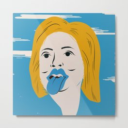 Rock N Roll Candidate / Hillary Clinton Metal Print