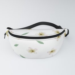 Anemones pattern with leaves Fanny Pack
