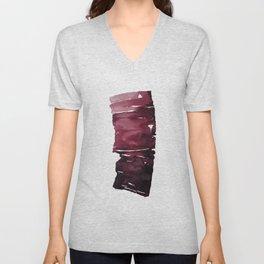 Burgundy ink Unisex V-Neck