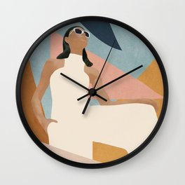 Living in Abstraction Wall Clock