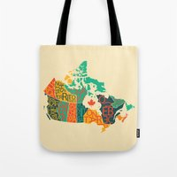 canada Tote Bags featuring Canada by Mohit Gupta