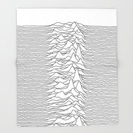 Unknown Pleasures - White Throw Blanket