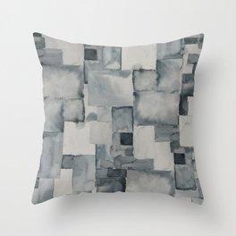 Pave Gray Throw Pillow