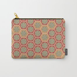 Hexagonal Dreams - Tangerine and Orange Carry-All Pouch