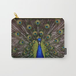 Vibrant pretty as a peacock bird feather art nouveau animal nature photograph Carry-All Pouch