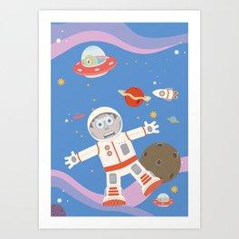 In Space No One Can Hear You Scream! Art Print