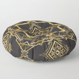 Art Deco Geometric Pattern Floor Pillow