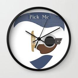 Pick Me (Guitar) Wall Clock