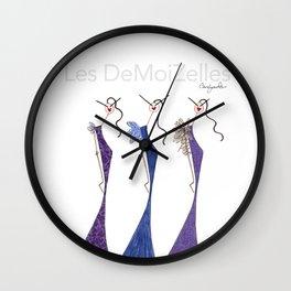 LES VIOLETTES Wall Clock