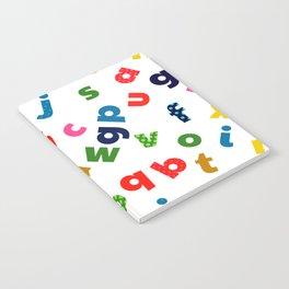 colourful alphabet Notebook
