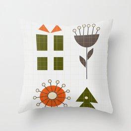 Minimal retro Christmas Throw Pillow