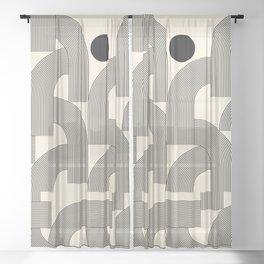 Abstraction_SUNLIGHT_SUNSHINE_LINE_POP_ART_Minimalism_001A Sheer Curtain