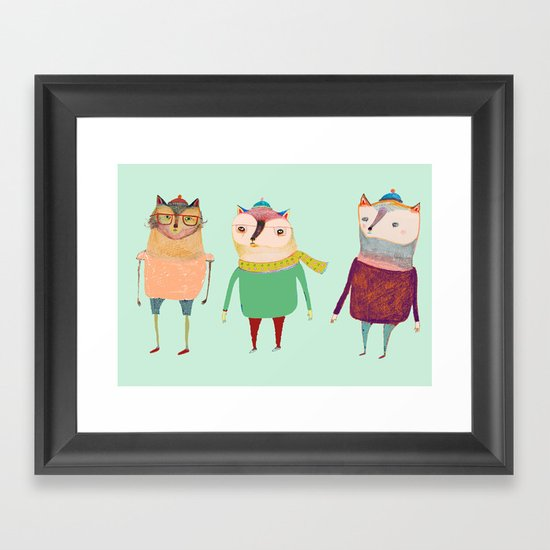 The Cats. Framed Art Print