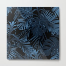 Dark indigo tropical Metal Print