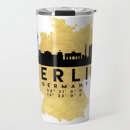 BERLIN GERMANY SILHOUETTE SKYLINE MAP ART Travel Mug