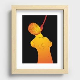 Hanged Ladies Orange Recessed Framed Print