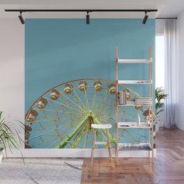 Ferris wheel ride on a sunny day at the Marin County Fair in San Rafael Wall Mural