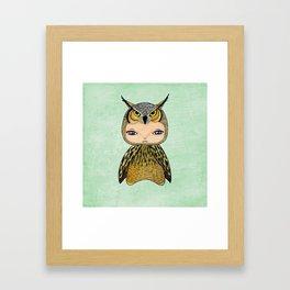 A Boy - Owl Framed Art Print