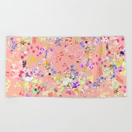 Soft bunnies pink Beach Towel