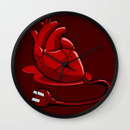 Unplug my Heart Wall Clock