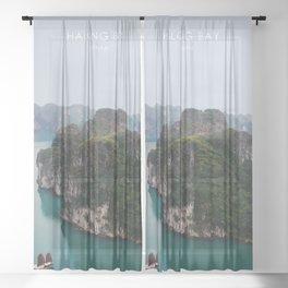 Halong Bay, Vietnam Travel Artwork Sheer Curtain