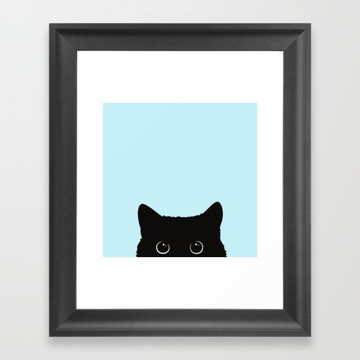 Black cat I Gerahmter Kunstdruck