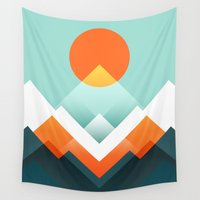outdoor Wall Tapestries featuring Everest by Picomodi