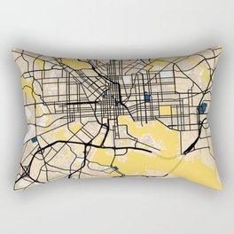 Baltimore Yellow City Map Rectangular Pillow