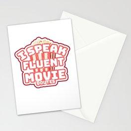 I Speak Fluent Movie Quotes Movie Lover Stationery Cards