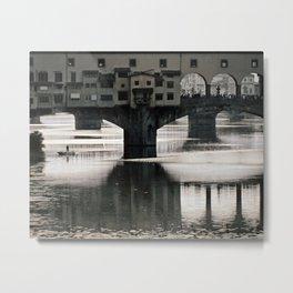 Ponte Vecchio {bw Metal Print